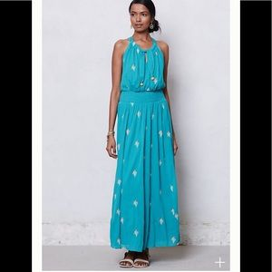 Anthropologie Skyscape Maxi Dress size 12